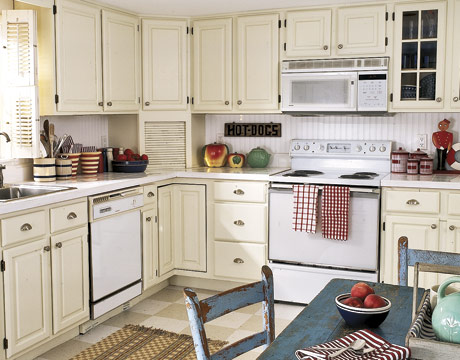 Painting kitchen cabinets oil vs latex for Can you paint non wood kitchen cabinets
